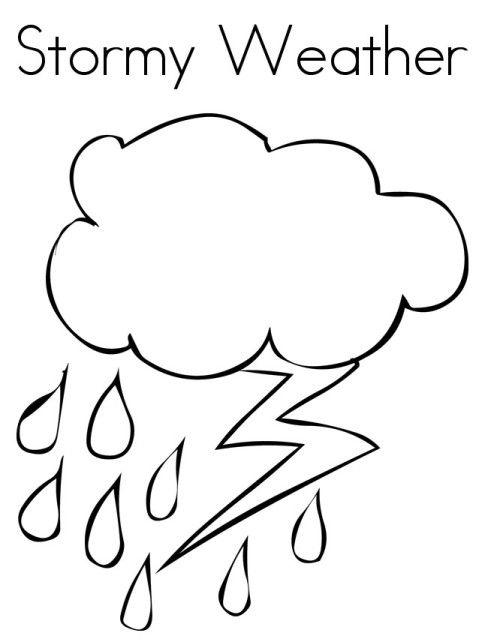 Weather Coloring Pages Stormy