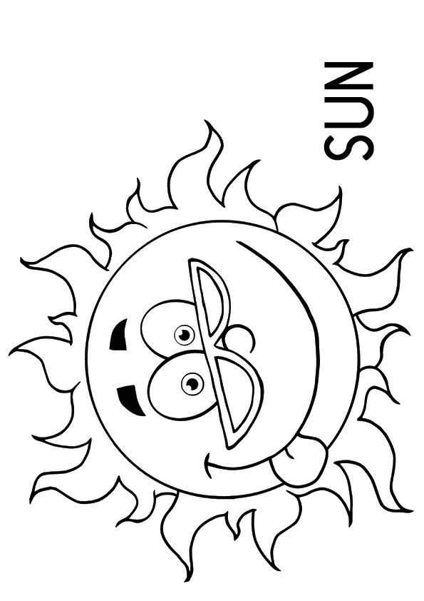 Weather Coloring Pages Sunny