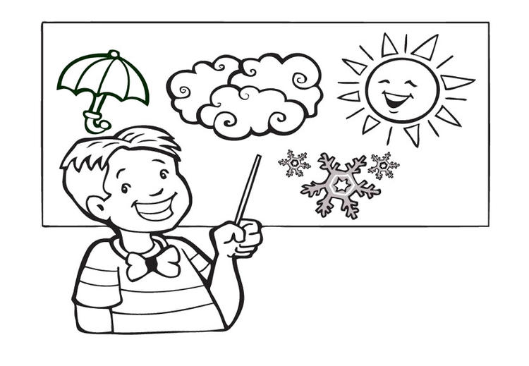 Weather Coloring Pages Weatherman