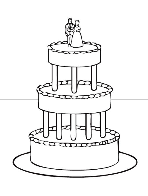 Wedding Cake Coloring Pages 04