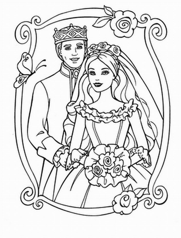 Wedding Coloring Pages Bridal