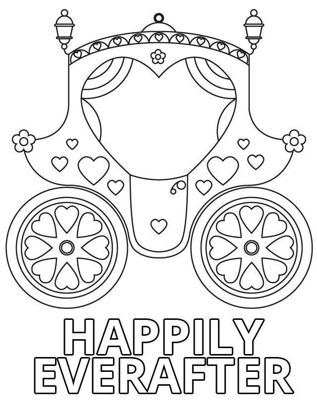 Wedding Coloring Pages Chariot