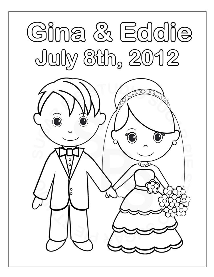 Wedding Coloring Pages Printable