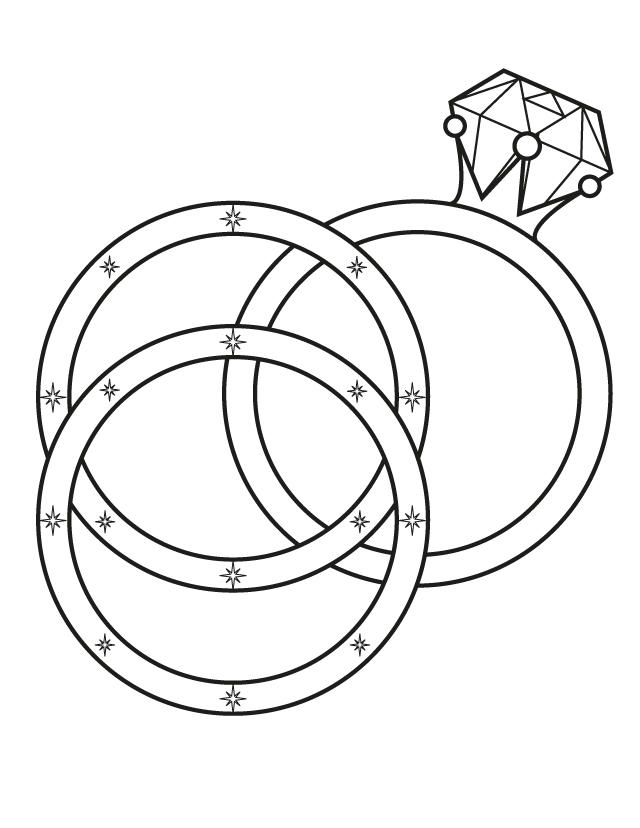 Wedding Coloring Pages Wedding Ring
