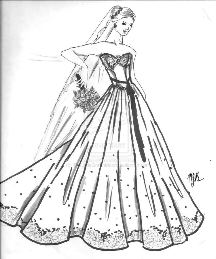 Wedding Dress Coloring Pages For Kids