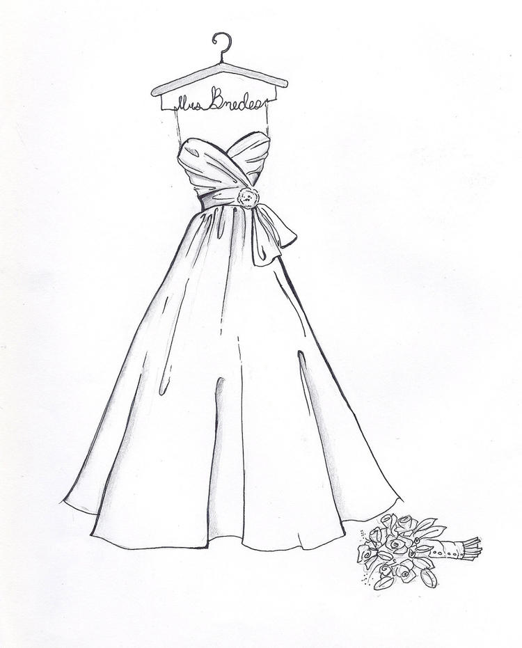 Wedding Dress Coloring Pages For Preschool