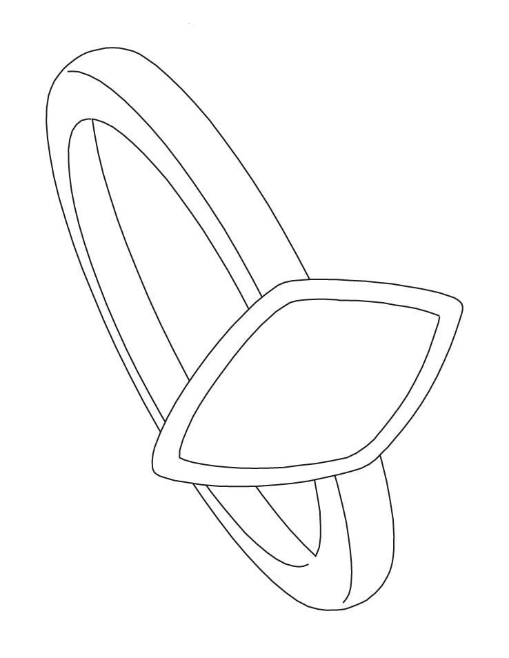 Wedding Ring Coloring Pages Free