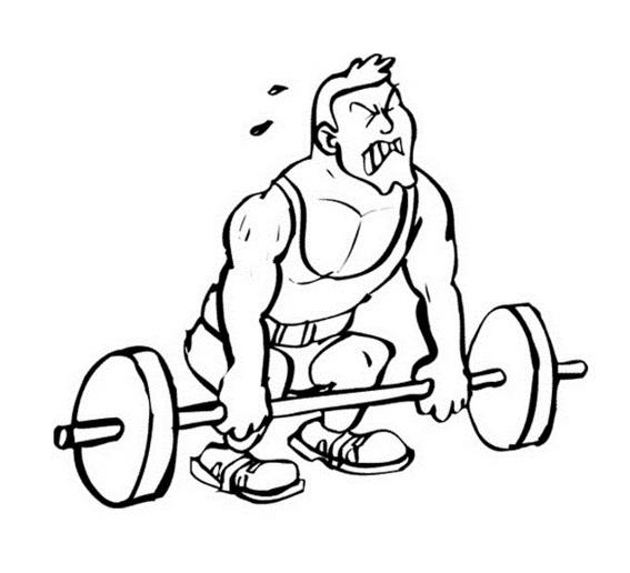 Weightlifter Athletics Coloring Page