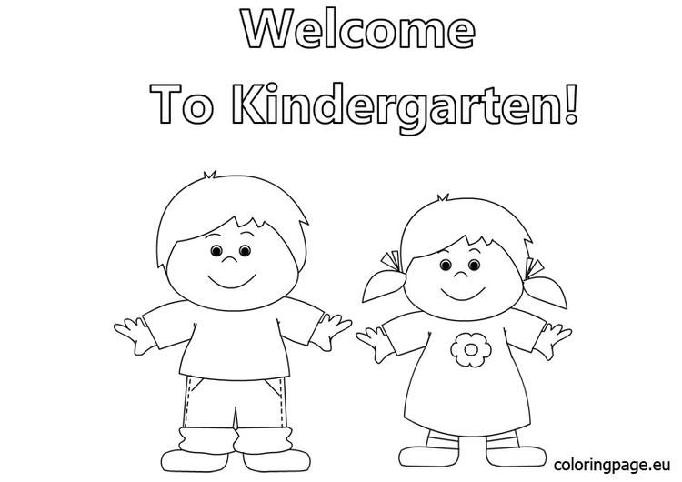 Welcome Back To School Coloring Pages For Kindergarten