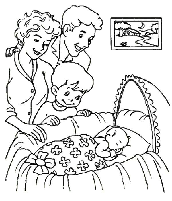 Welcoming New Member Of Family Babies Coloring Pages