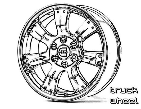 Wheel Parts Of Car Coloring Pages