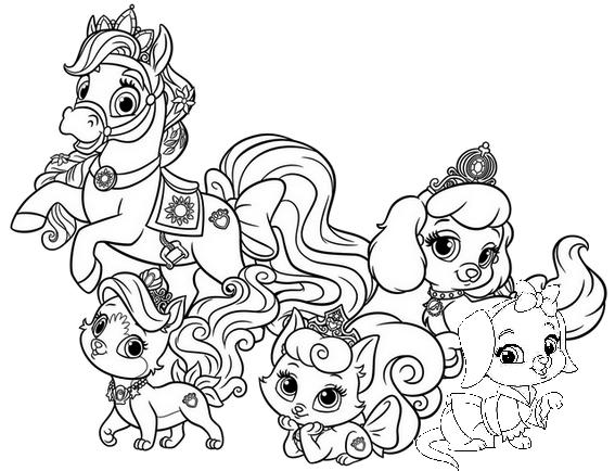 Whisker Haven Characters Coloring Page