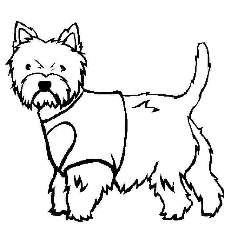 White Dog Coloring Pages