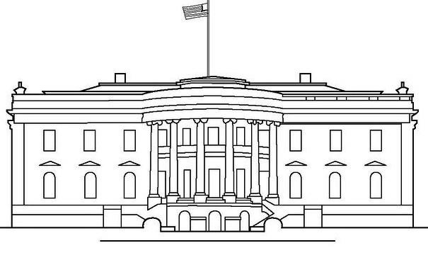 White House Coloring Picture