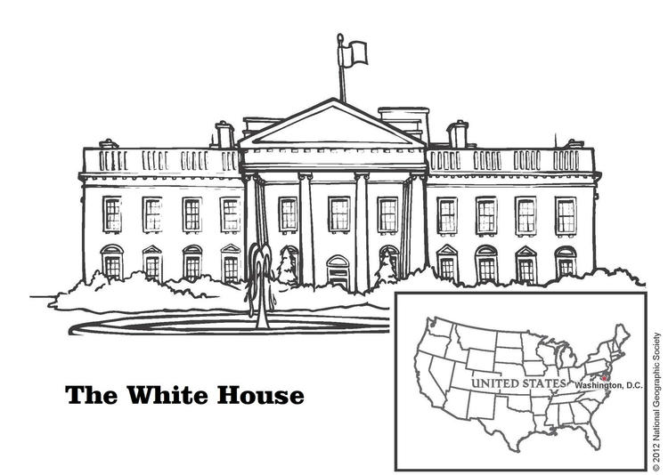White House United States Coloring Page