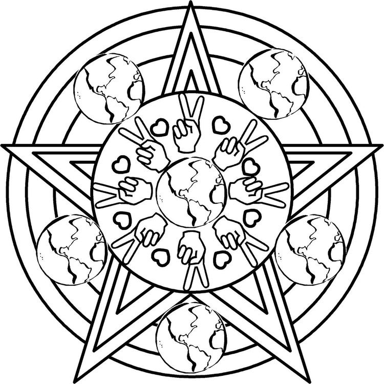 Wiccan Coloring Sheet Printable