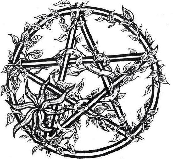 Wiccan Star Coloring Page