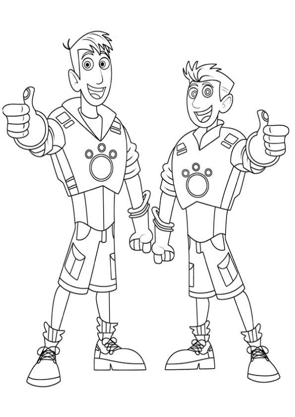 Wild Kratts Coloring Pages Martin And Chris Kratt