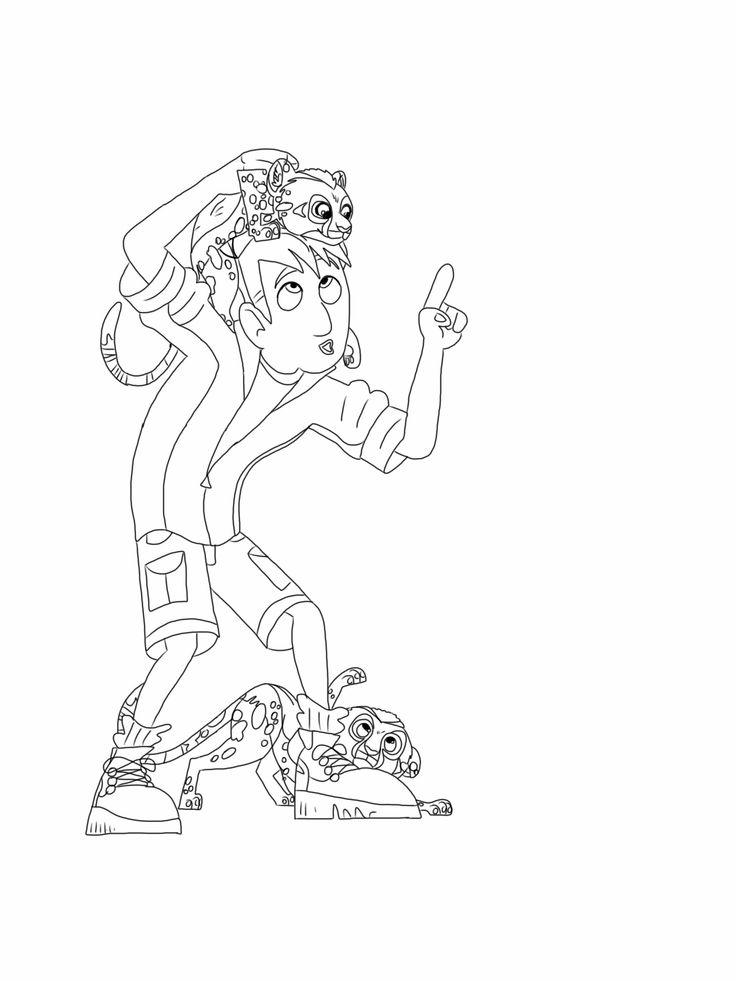 Wild Kratts Coloring Pages Martin And Leopard