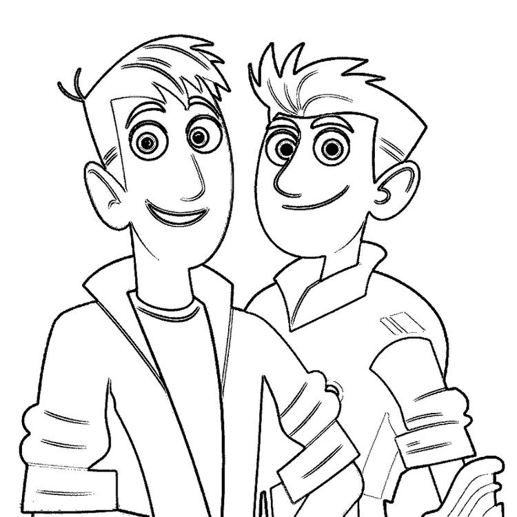 Wild Kratts Coloring Sheet Animated Series