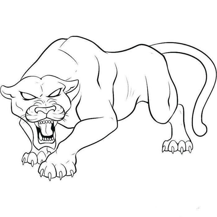 Wildlife Black Panther Movie Coloring Pages
