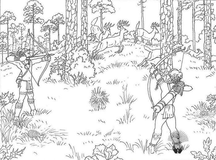 Wildlife Coloring Pages Hunting