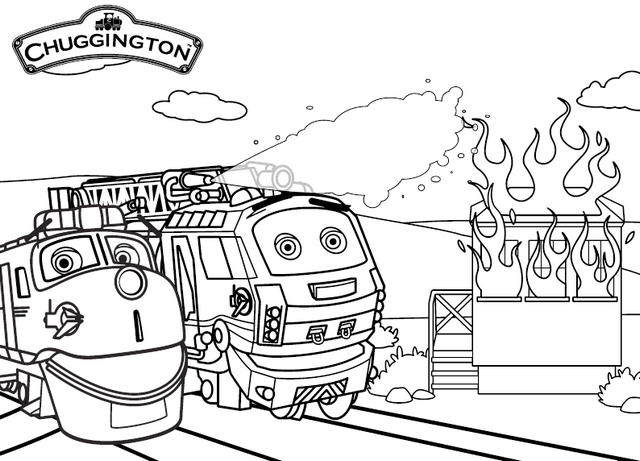 Wilson And Emery From Chugginton Coloring Picture
