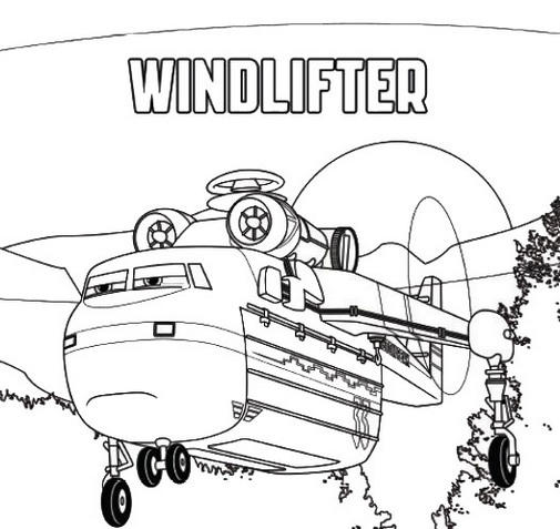 Windlifter From Planes Fire And Rescue Disney Coloring Page