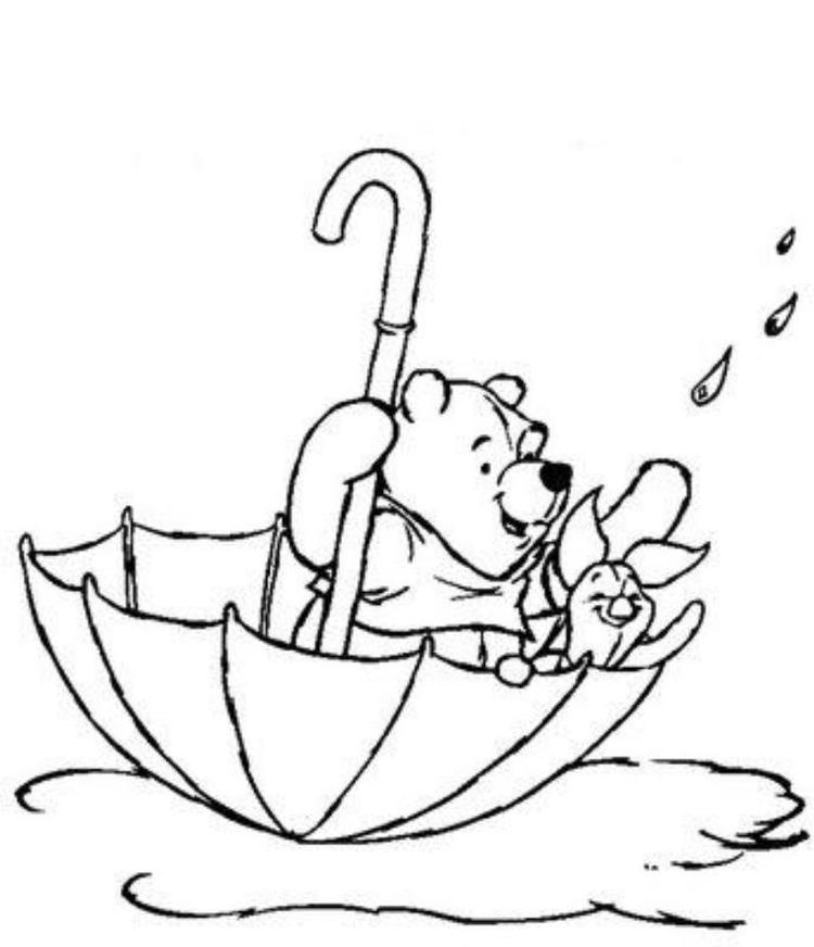 Winnie The Pooh And Piglet Disney Spring Coloring Pages