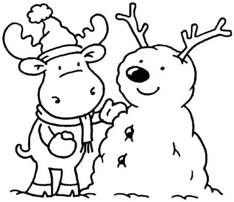 Winter Animal Coloring Pages For Preschool Coloring Ideas