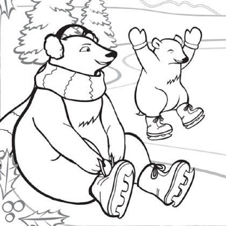 Winter Animals Coloring Pages For Preschool