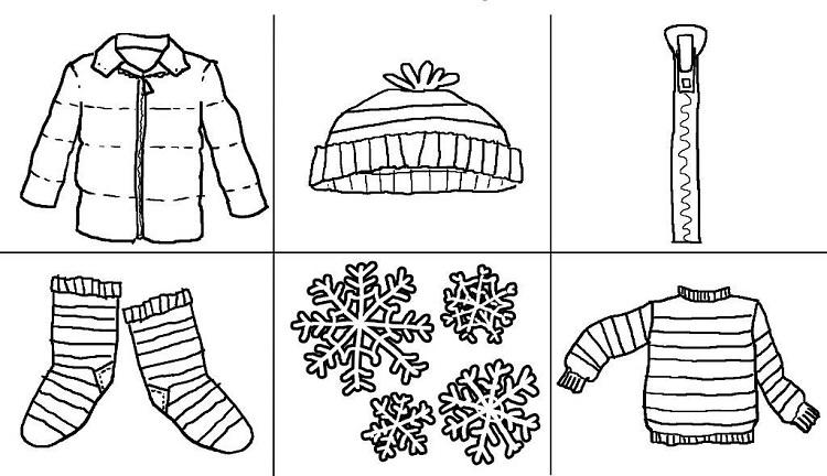 Winter Clothes Coloring Pages To Print