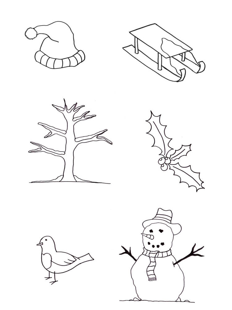 Winter Coloring Page For Kids Free