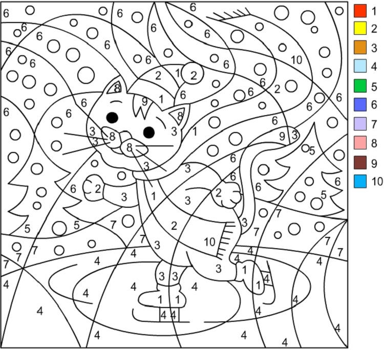 Winter Coloring Pages By Number