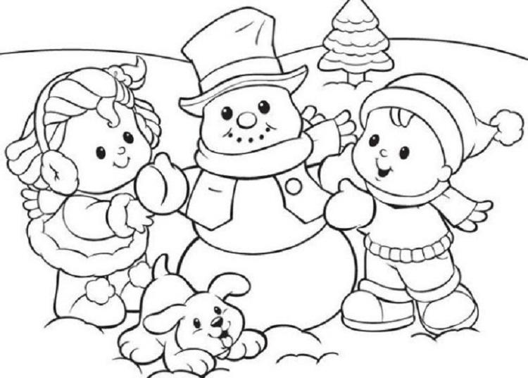 Winter Coloring Pages For Children