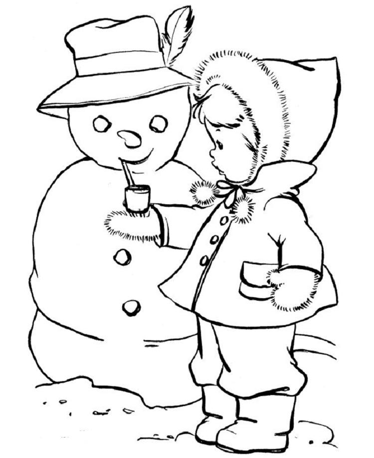 Winter Coloring Pages For Older Students