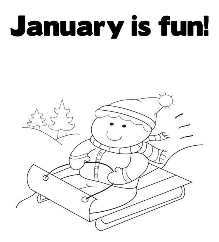 Winter coloring pages printable january is fun