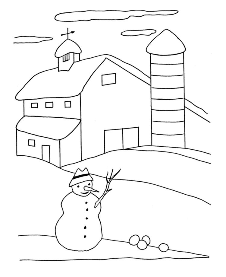 Winter Coloring Pages Snowy Day