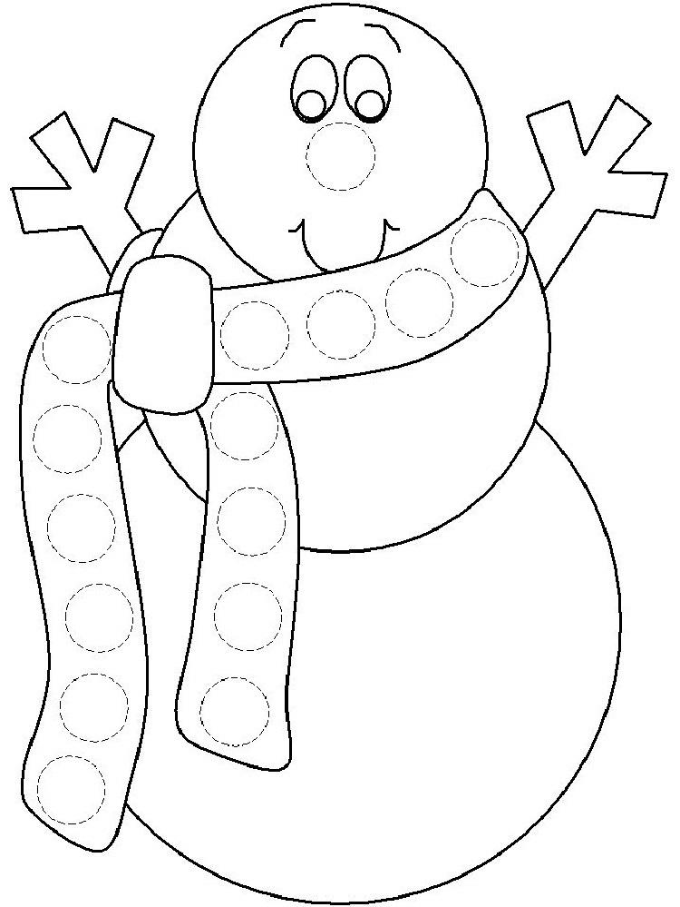 Winter Dauber Coloring Pages