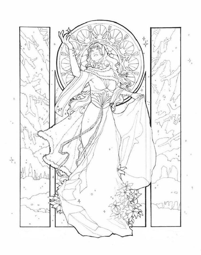 Winter Goddess Coloring Pages