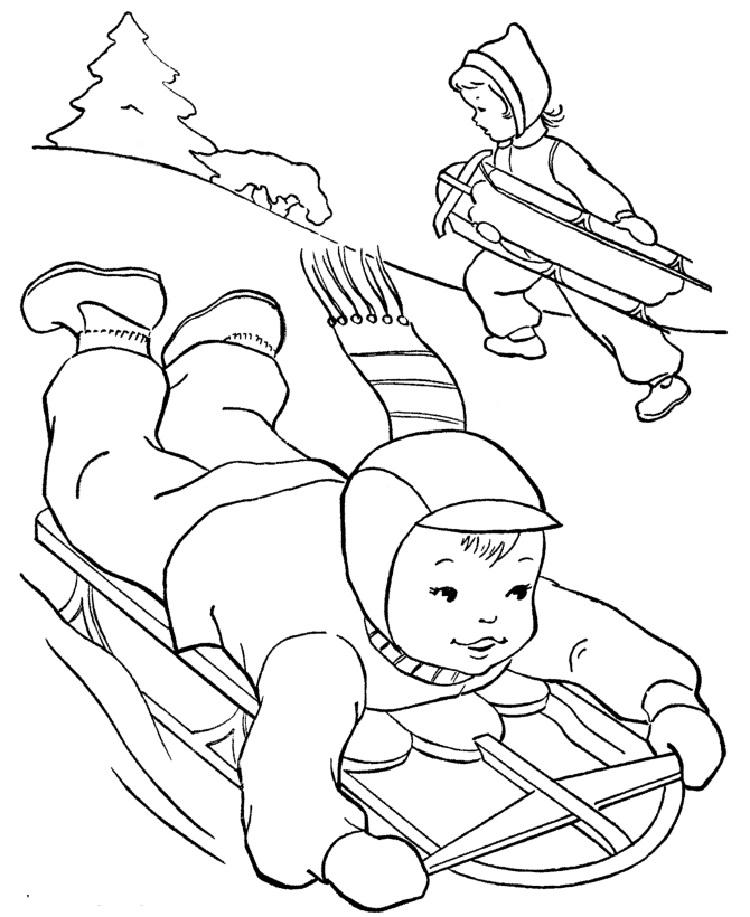 Winter Holiday Coloring Pages Games