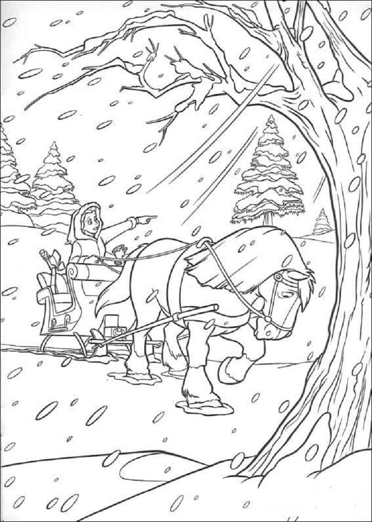 Winter Horse Coloring Pages