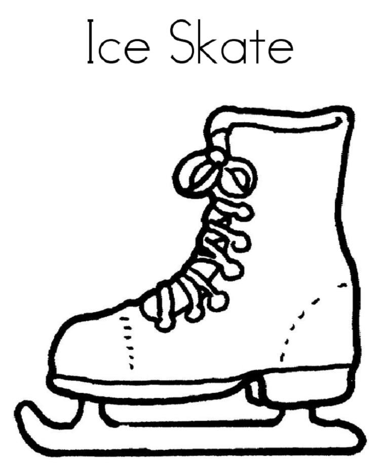 Winter Ice Skating Coloring Pages