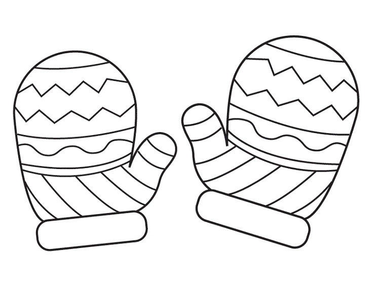 Winter Mittens Coloring Pages