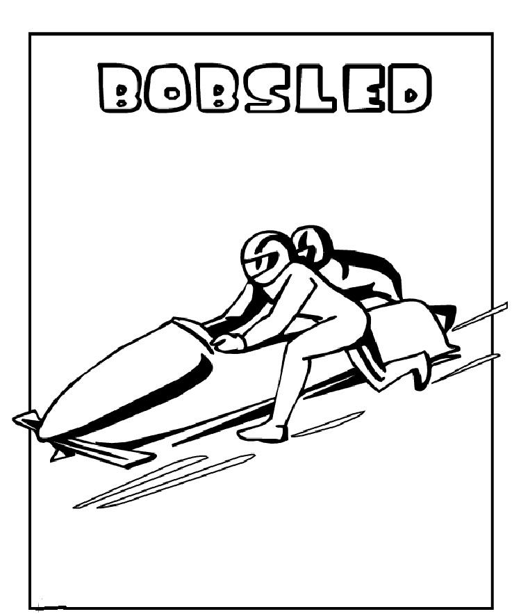 Winter Olympic Events Coloring Pages