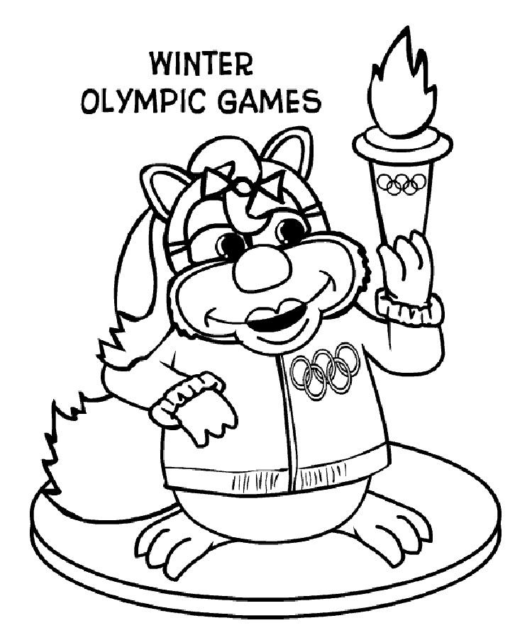 Winter Olympic Games Coloring Pages