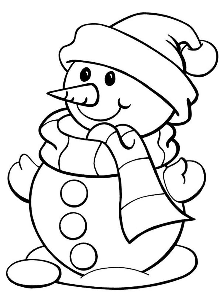 Winter Snowman Coloring Pages For Kids