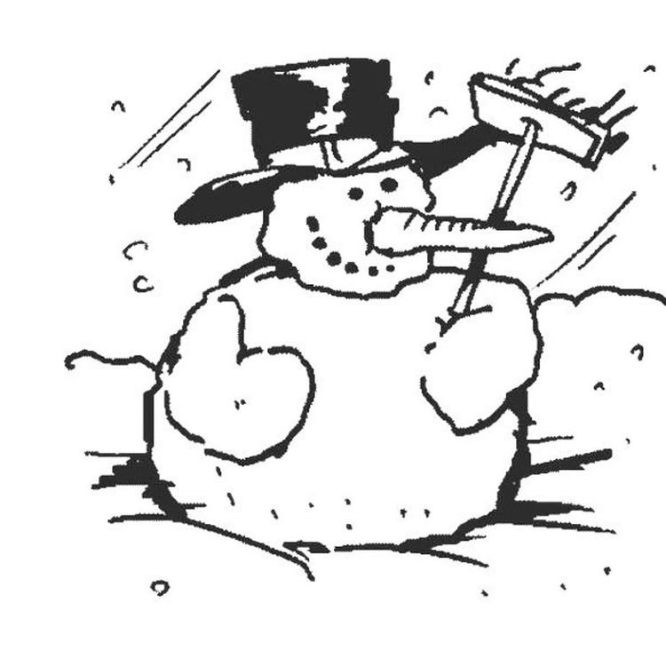 Winter Snowman Coloring Pages To Print