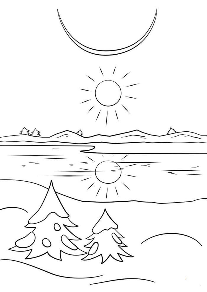 Winter Solstice Coloring Pages