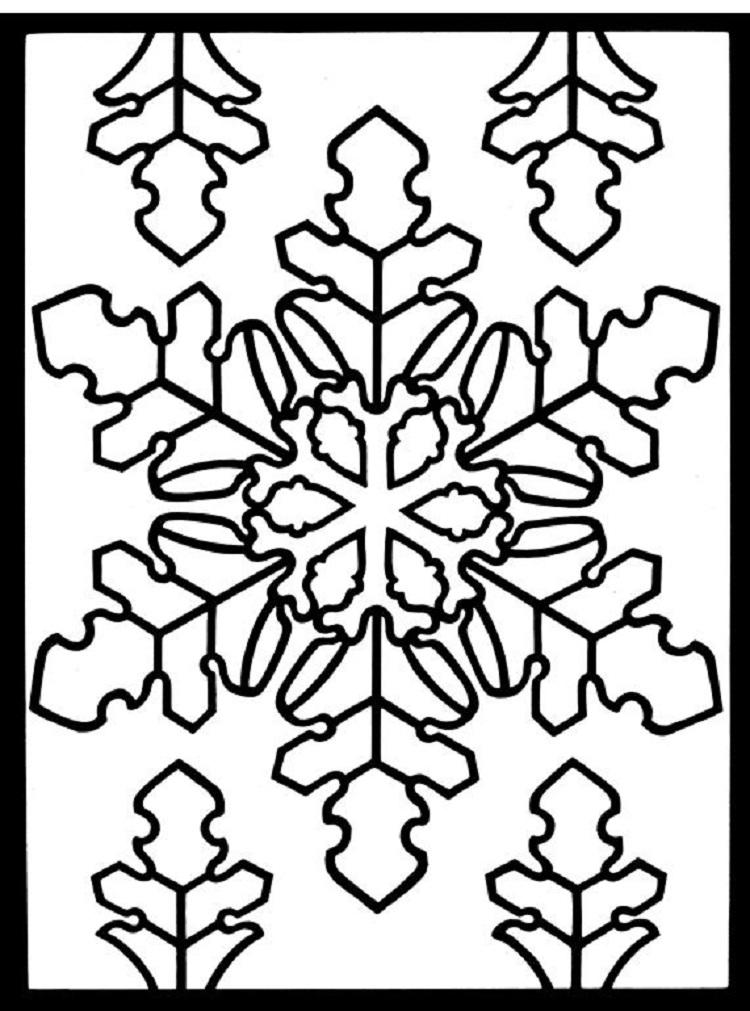 Winter Stained Glass Coloring Pages